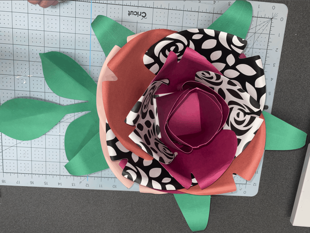 image of finished paper flower
